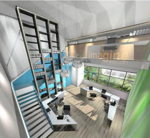 HexaCube Commercial Offices with High Ceiling