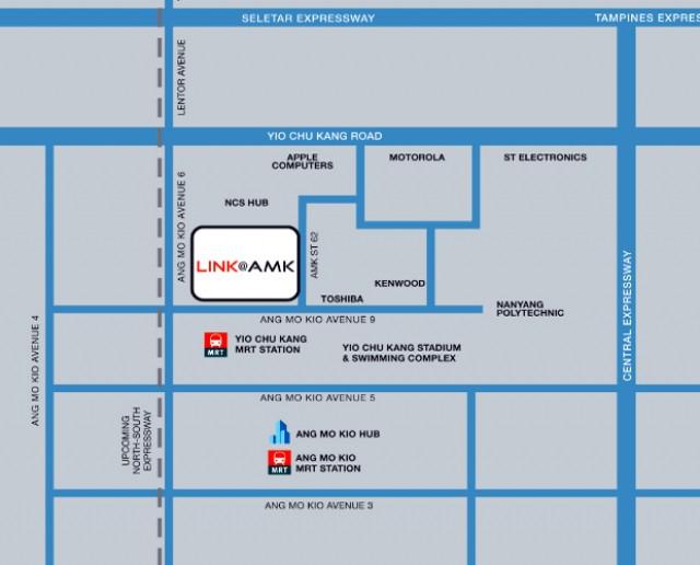 Site Plan and Floor Plan of LINK@Ang Mo Kio